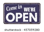 come in we're open on blue... | Shutterstock .eps vector #457059280
