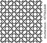 black and white arabic seamless ... | Shutterstock .eps vector #457061668