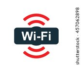 wi fi point icon on white... | Shutterstock .eps vector #457062898