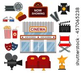 icons for media cinema symbols... | Shutterstock .eps vector #457065238
