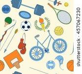 seamless sport rio 2016 pattern ... | Shutterstock .eps vector #457067230