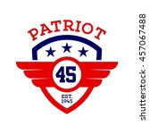 patriotic badge and emblem... | Shutterstock .eps vector #457067488