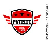 patriotic badge and emblem... | Shutterstock .eps vector #457067500