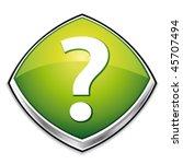 green question mark diamond...   Shutterstock .eps vector #45707494