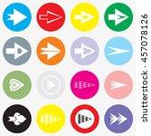 arrows sign icon set.  modern... | Shutterstock .eps vector #457078126