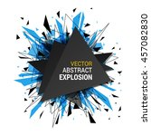 abstract explosion banner.