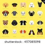 dog faces icon cartoon 3 | Shutterstock .eps vector #457085098