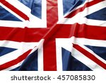 closeup of british union jack...   Shutterstock . vector #457085830