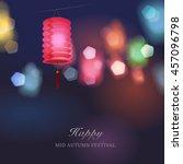 chinese lantern festival image. | Shutterstock .eps vector #457096798