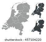 map of netherlands  | Shutterstock .eps vector #457104220
