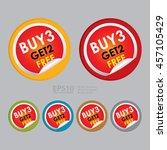 vector   buy3 get2 free special ... | Shutterstock .eps vector #457105429