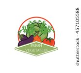 vegetable and healthy food logo ... | Shutterstock .eps vector #457105588