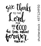 give thanks to the lord quote... | Shutterstock .eps vector #457124950