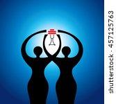 power of women  creative concept | Shutterstock .eps vector #457125763