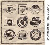 house remodeling logos. vector... | Shutterstock .eps vector #457126540