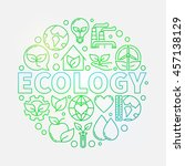 ecology green colorful... | Shutterstock .eps vector #457138129