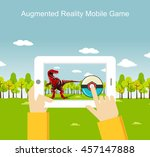 augmented reality mobile game. | Shutterstock .eps vector #457147888
