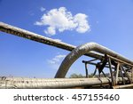 thermal insulation pipe under... | Shutterstock . vector #457155460