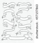set of vintage ribbons... | Shutterstock .eps vector #457157863