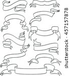 set of vintage ribbons... | Shutterstock .eps vector #457157878