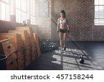 full length shot of fitness... | Shutterstock . vector #457158244
