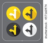 arrows icons. arrow forward and ... | Shutterstock .eps vector #457160974