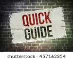 quick guide | Shutterstock . vector #457162354