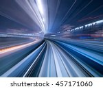 motion blur of train moving... | Shutterstock . vector #457171060