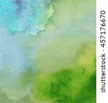 abstract watercolor and gouache ... | Shutterstock . vector #457176670