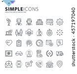 modern thin line medical icons. ... | Shutterstock .eps vector #457197040