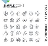 modern thin line icons of... | Shutterstock .eps vector #457197088
