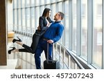couple in love on vacation.... | Shutterstock . vector #457207243