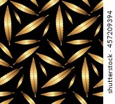 seamless gold leaves pattern on ... | Shutterstock .eps vector #457209394