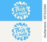 Fresh Milk Lettering Logo...