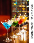 multicolored cocktails at the... | Shutterstock . vector #457215958