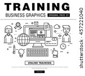 modern business training pack.... | Shutterstock .eps vector #457221040