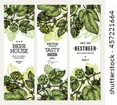 beer hop banner collection.... | Shutterstock .eps vector #457221664