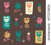 scandinavian style. seamless... | Shutterstock .eps vector #457223824