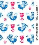 scandinavian style.seamless... | Shutterstock .eps vector #457223854