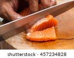 Japanese Chef Use Sharp Knife...