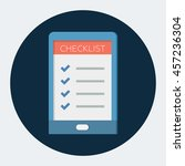 checklist opened on a tablet | Shutterstock .eps vector #457236304