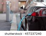 back side of the car loading... | Shutterstock . vector #457237240