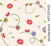 seamless floral pattern. flower ... | Shutterstock .eps vector #457237420