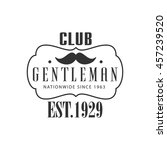 nationwide gentleman club label ... | Shutterstock .eps vector #457239520