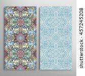 vertical seamless patterns set  ...   Shutterstock .eps vector #457245208