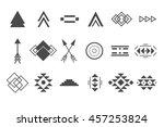 vector tribal elements  ethnic... | Shutterstock .eps vector #457253824