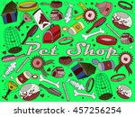 vector line art doodle set of... | Shutterstock .eps vector #457256254
