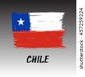 flag of chile    grunge | Shutterstock .eps vector #457259224