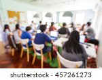 abstract blur people lecture in ... | Shutterstock . vector #457261273