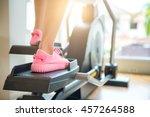 closeup cardio workout back... | Shutterstock . vector #457264588